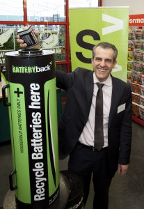Sustainability Victoria CEO Stan Krpan at the launch of the Batteryback expansion in 2013