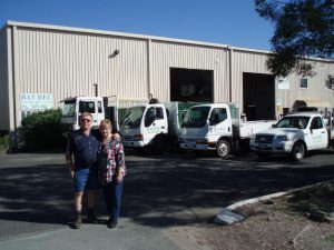 Bill and Sandra Parker, owners of BAT REC Battery Recycling