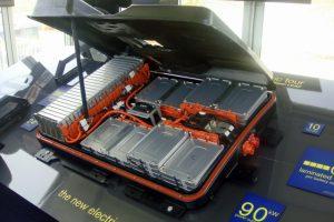 Nissan Leaf PEV battery pack (photo Mario Ortiz)