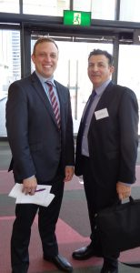The Hon Dr Steven Miles MP, Minister for Environment and Heritage Protection and Mr Tony Todaro, Lighting Council Australia